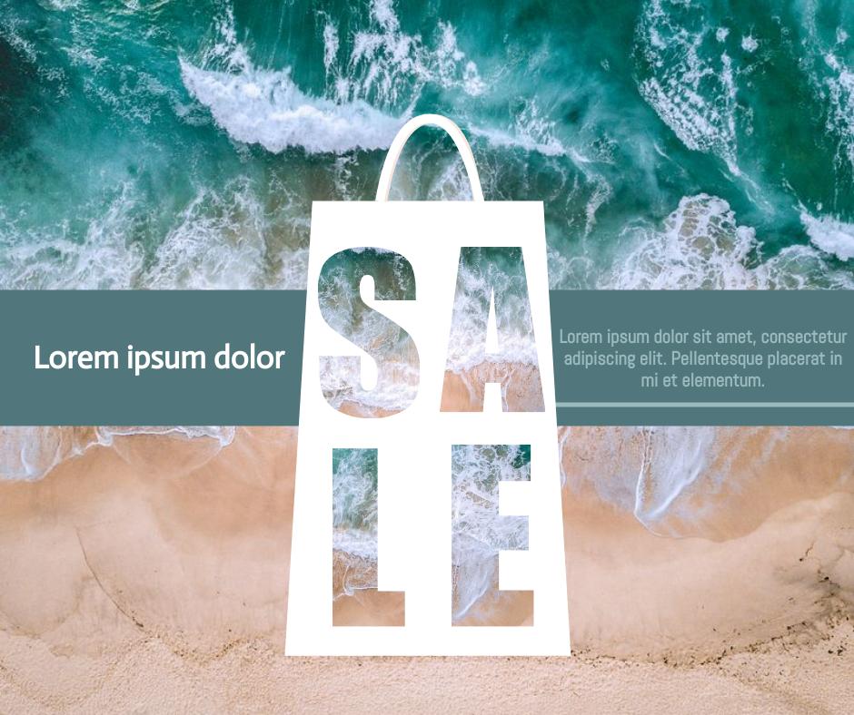 Facebook Post template: SALE Ocean Facebook Post (Created by InfoART's Facebook Post maker)