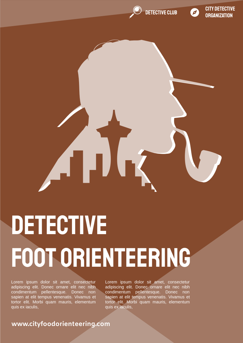 Flyer template: Detective Foot Orienteering Flyer (Created by InfoART's Flyer maker)