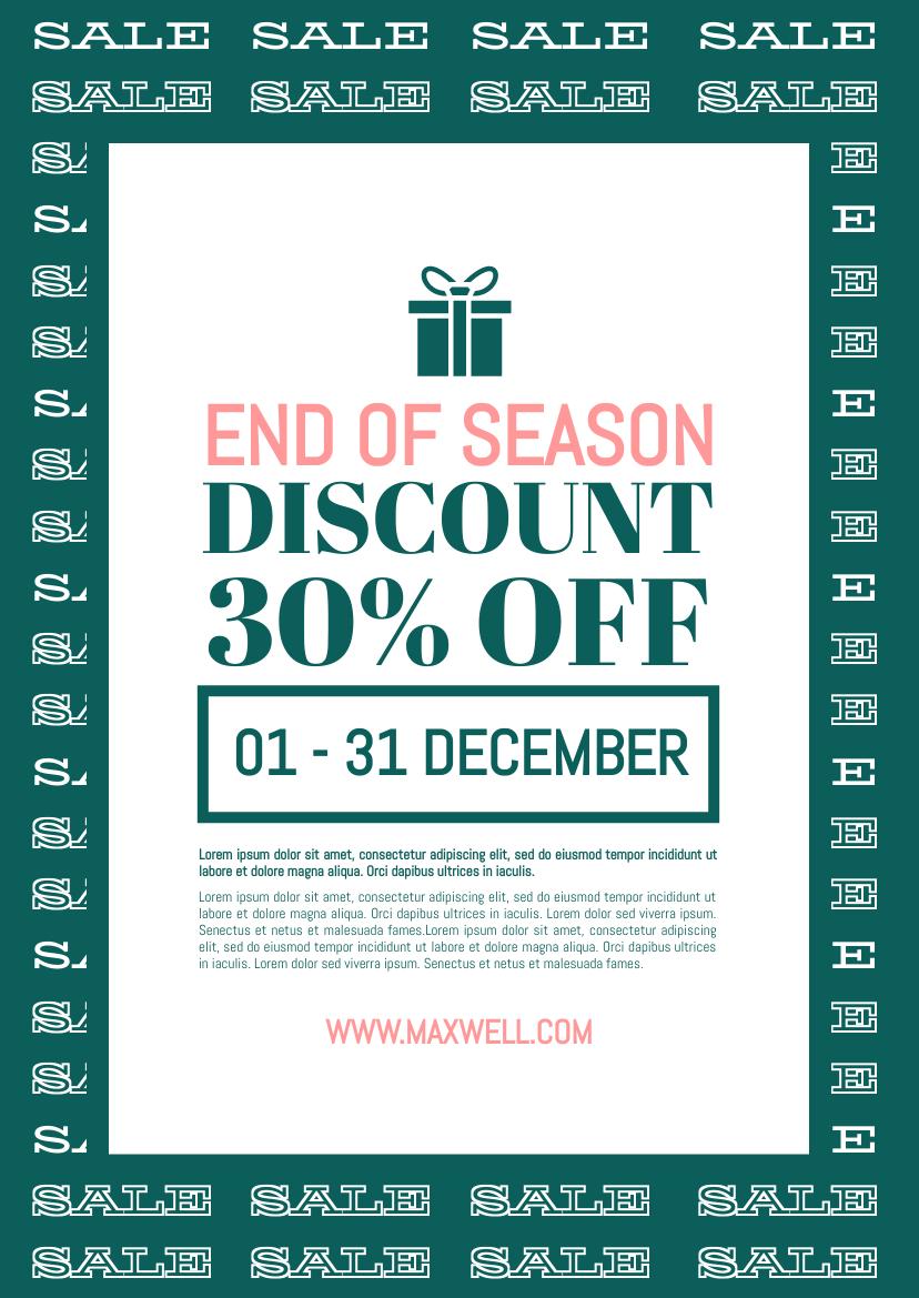 Flyer template: End Of Season Sale Flyer (Created by InfoART's Flyer maker)