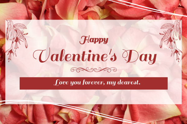 Greeting Card template: Rose Valentine's Day Greeting Card (Created by InfoART's Greeting Card maker)