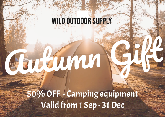 Gift Card template: Autumn Camping Gift Card (Created by InfoART's Gift Card marker)