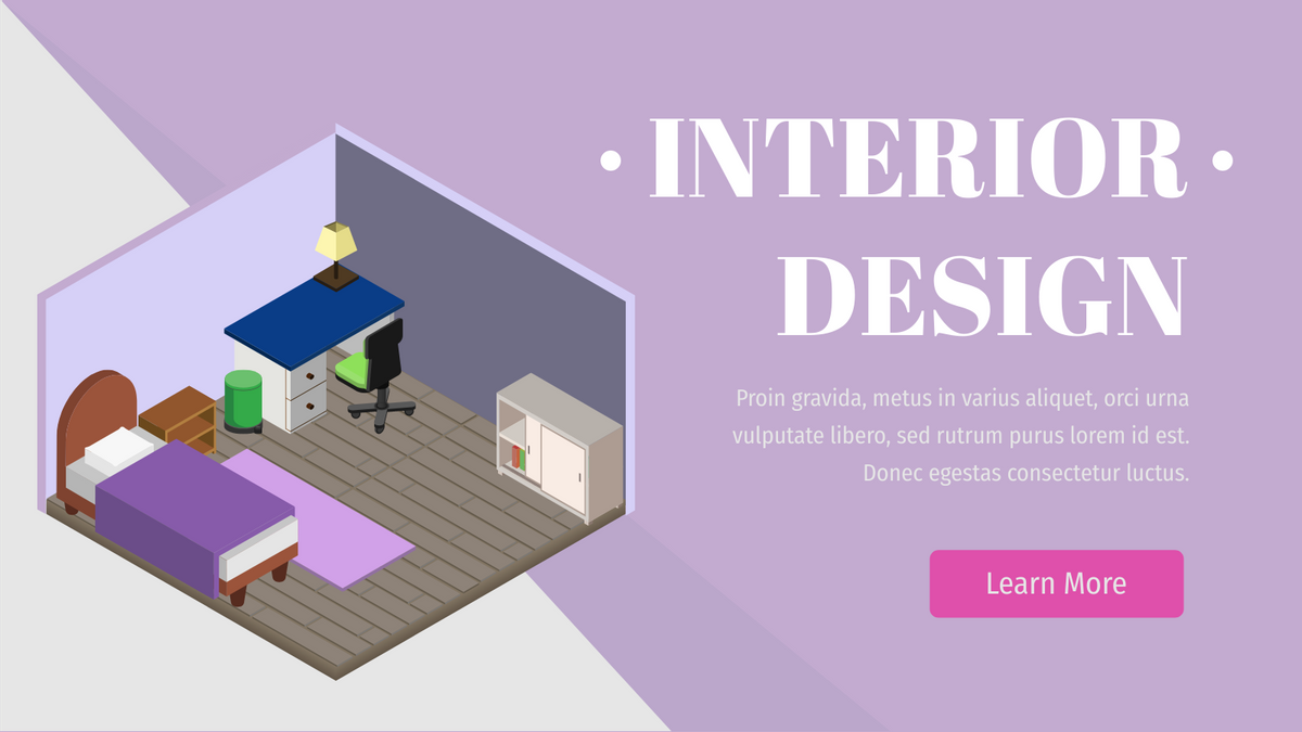 Isometric Diagram template: Interior Design Bedroom (Created by InfoART's Isometric Diagram marker)