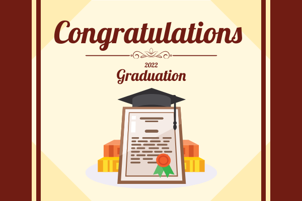 Greeting Card template: Graduation Graphic Greeting Card (Created by InfoART's Greeting Card marker)
