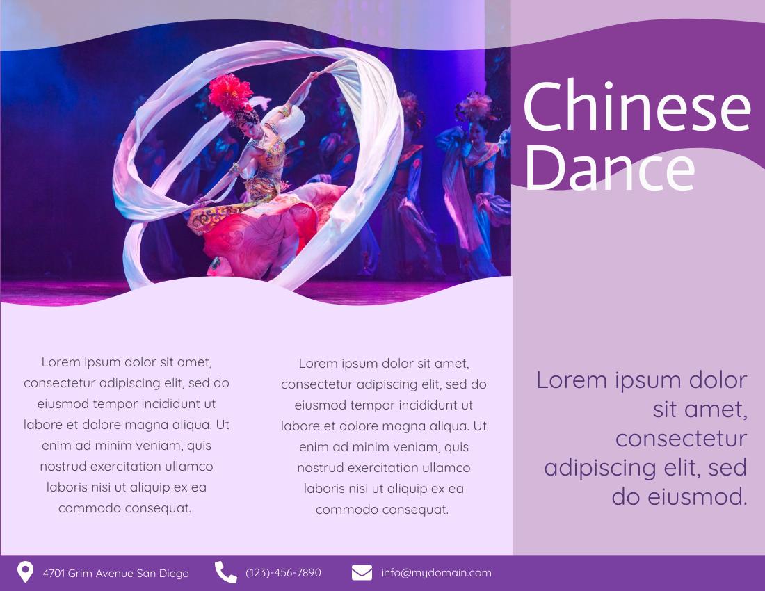 Brochure template: Chinese Dance Brochure (Created by InfoART's Brochure maker)