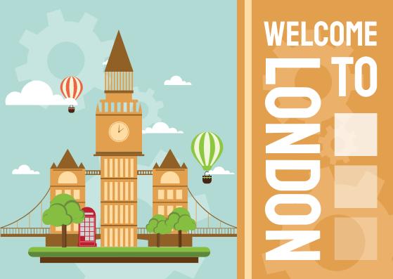 Postcard template: Welcome To London Postcard (Created by InfoART's Postcard maker)