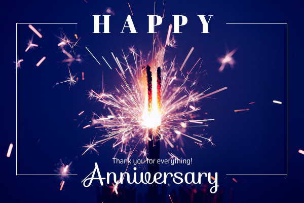 Greeting Card template: Happy Anniversary Greeting Card (Created by InfoART's Greeting Card maker)
