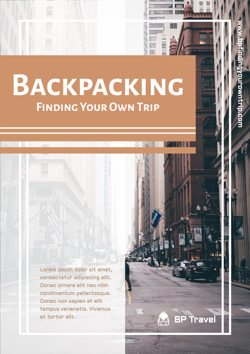 Flyer template: Backpacking Flyer (Created by InfoART's Flyer maker)
