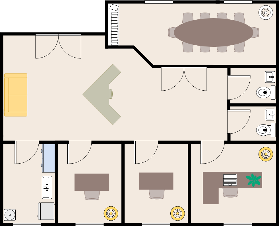 Office Building Layout (Work Office Example)