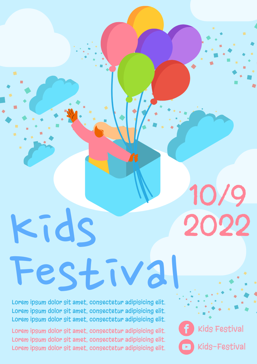 Flyer template: Kids Festival Flyer (Created by InfoART's Flyer maker)