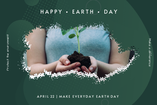 Greeting Card template: Green Plants Photo Earth Day Greeting Card (Created by InfoART's Greeting Card maker)