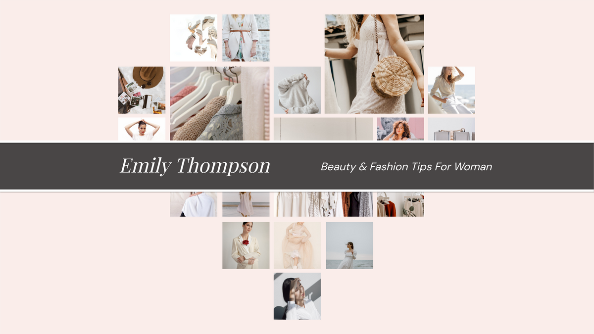 YouTube Channel Art template: Beauty And Fashion Tips YouTube Channel Art (Created by Collage's YouTube Channel Art maker)