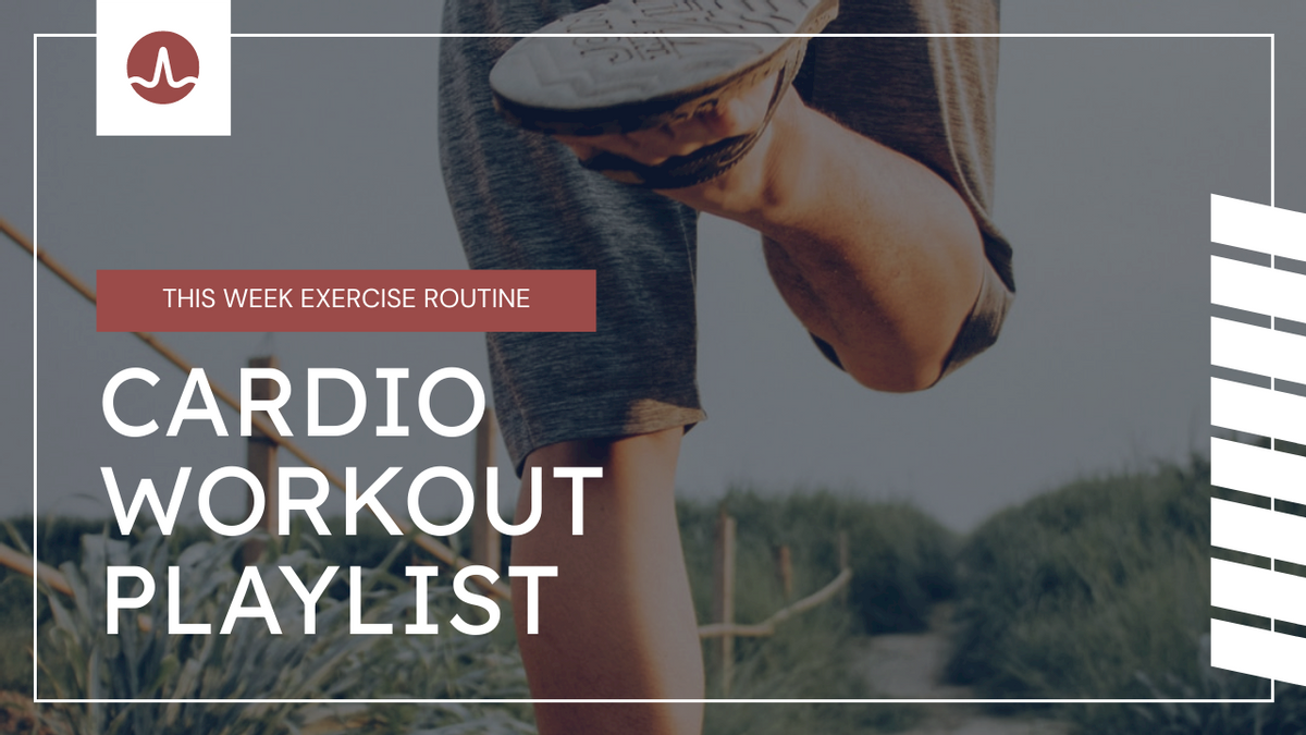 YouTube Thumbnail template: Cardio Workout Playlist Fitness YouTube Thumbnail (Created by InfoART's YouTube Thumbnail maker)