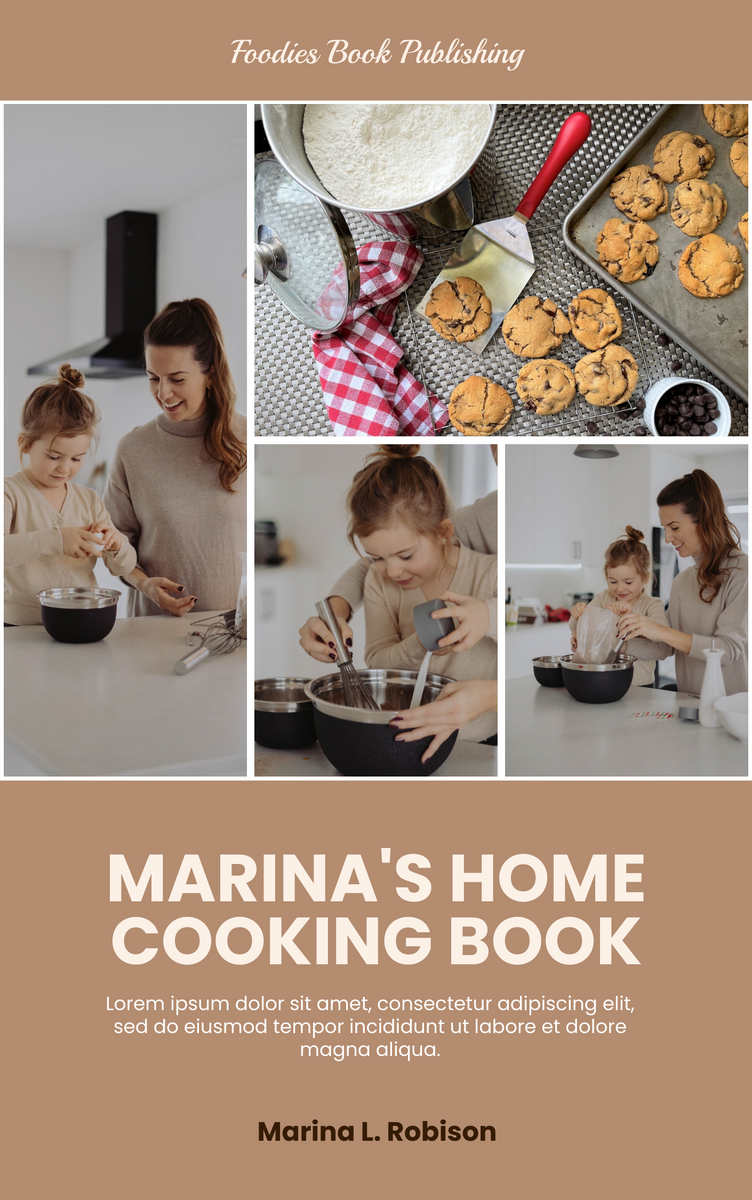 Book Cover template: Home Cooking Book Cover (Created by InfoART's Book Cover maker)