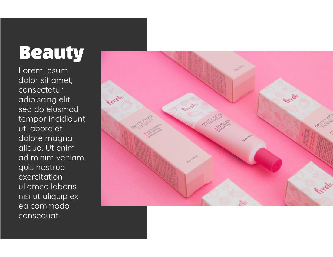 Brochure template: Beauty Product Promotion Brochure (Created by InfoART's Brochure maker)