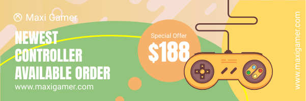 Email Header template: Game Sales Email Header (Created by InfoART's Email Header maker)