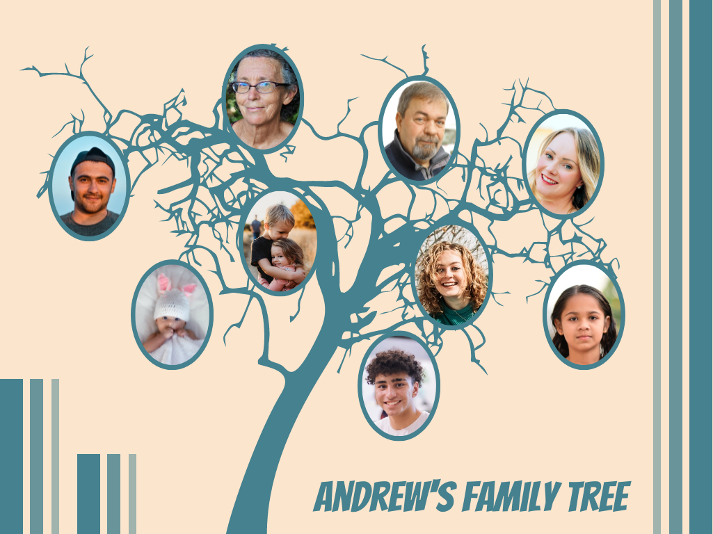 Family Tree template: Casual Graphic Family Tree2 (Created by Collage's Family Tree maker)