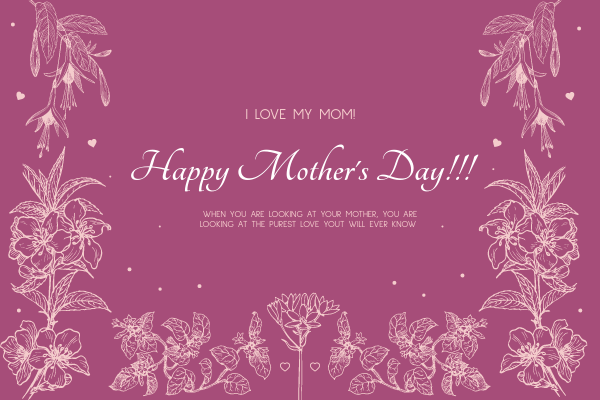 Greeting Card template: Mother's Day Greeting Card (Created by InfoART's Greeting Card maker)