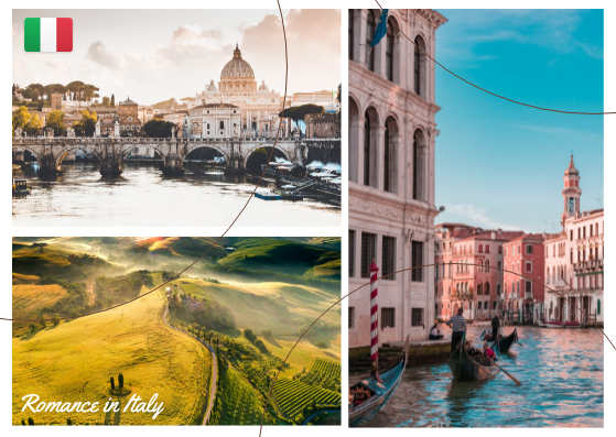 Post Card template: Italy Post Cards (Created by InfoART's Post Card marker)