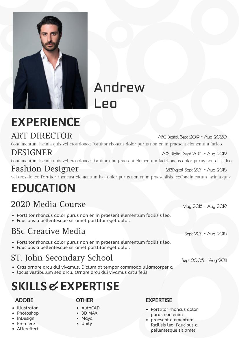 Resume template: Simple04 Resume (Created by InfoART's Resume maker)
