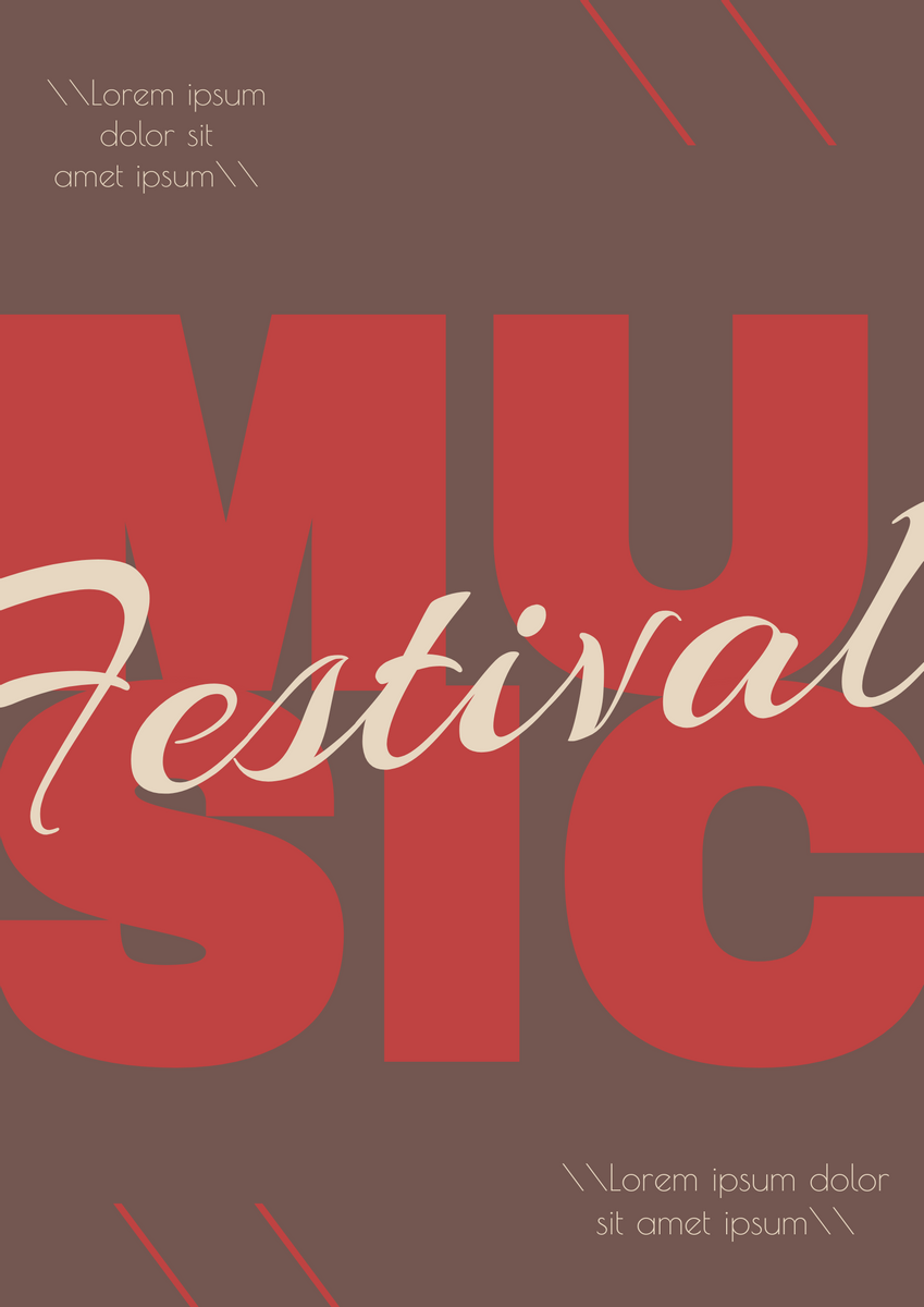 Poster template: Music Festival Poster (Created by InfoART's Poster marker)