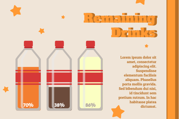 Container template: Remaining Drinks (Created by InfoChart's Container maker)