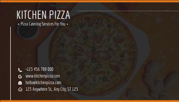 Business Card template: Orange Pizza Kitchen Business Card (Created by InfoART's Business Card maker)