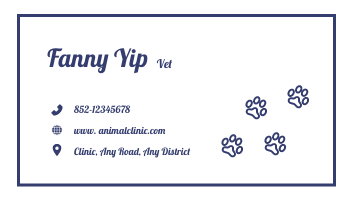 Business Card template: Animal Clinic Business Cards (Created by InfoART's Business Card maker)