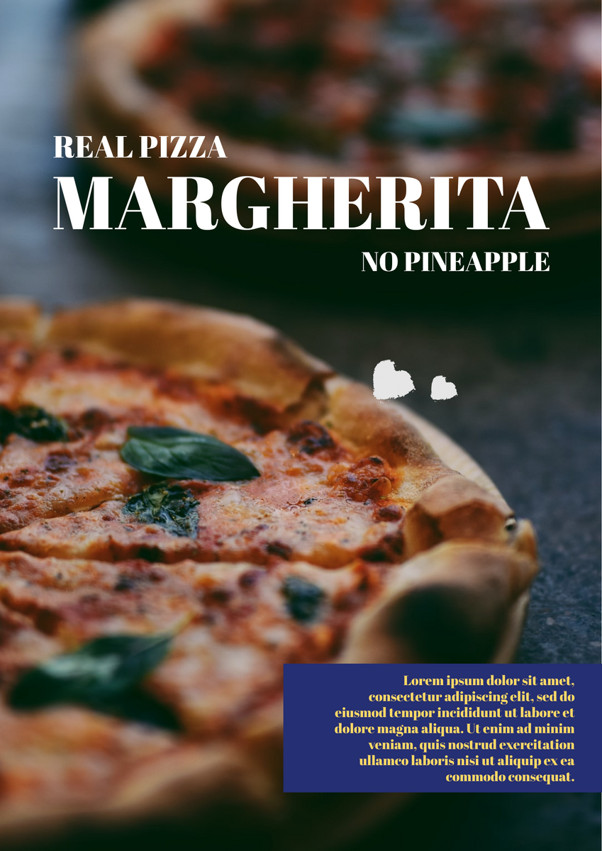 Poster template: Special Pizza Poster (Created by InfoART's Poster maker)