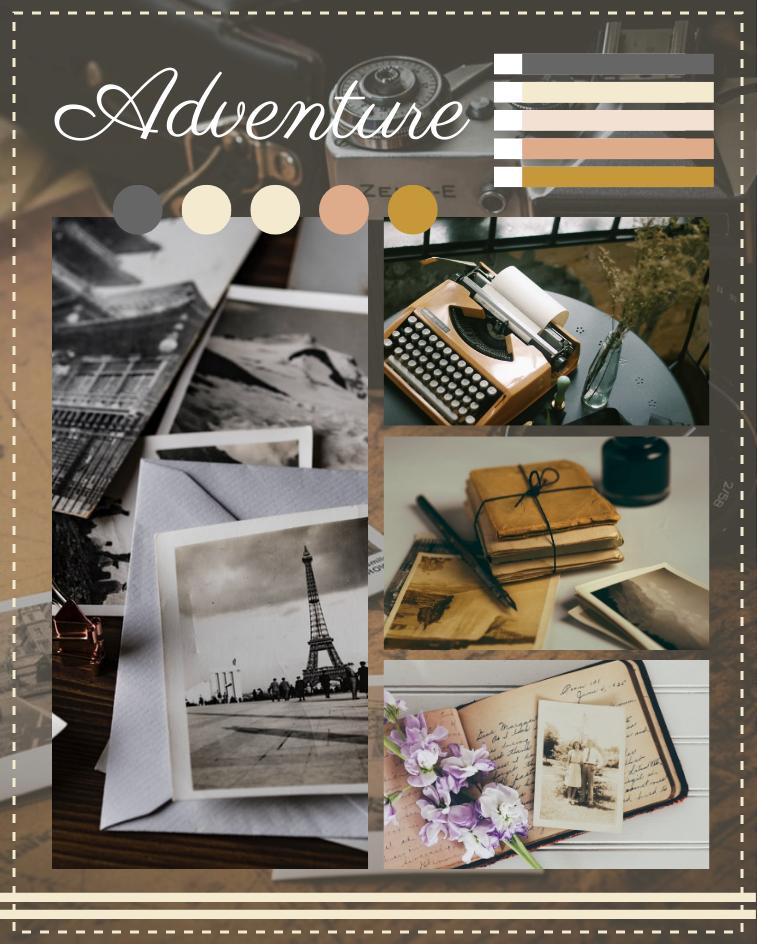 Mood Board template: Vintage Handmade Mood Board (Created by Collage's Mood Board maker)
