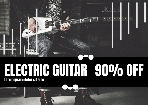 Gift Card template: Electric Guitar Gift Card (Created by InfoART's Gift Card marker)