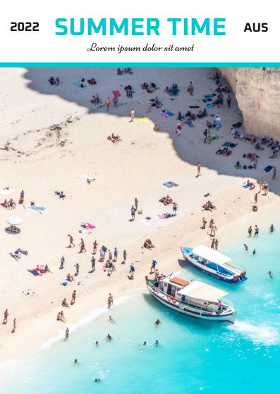 Postcard template: Summer Time Postcard (Created by InfoART's Postcard maker)