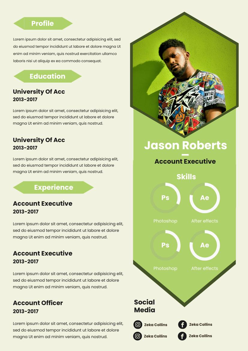 Green Polygon Resume