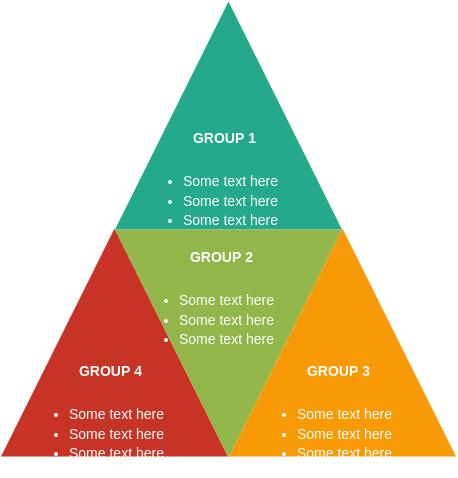 Pyramid Block Diagram template: Segmented Pyramid (Created by Diagrams's Pyramid Block Diagram maker)