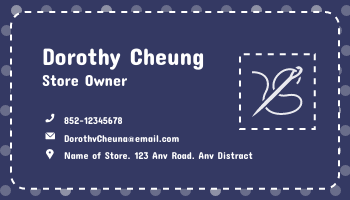 Business Card template: Clothing Store Business Cards (Created by InfoART's Business Card maker)