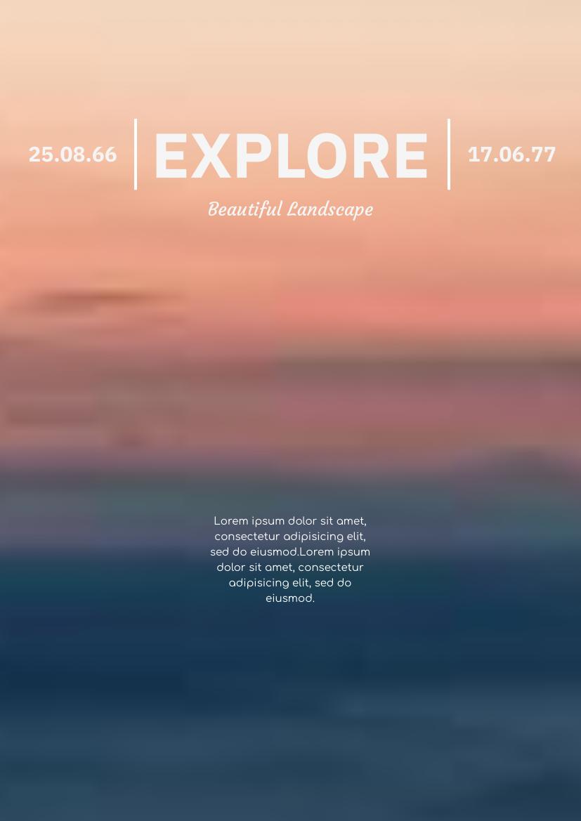 Flyer template: Explore Beautiful Landscape Flyer (Created by InfoART's Flyer maker)
