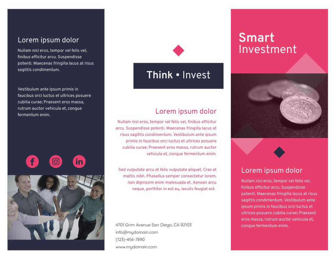 Brochure template: Investment Brochure 2 (Created by InfoART's Brochure maker)