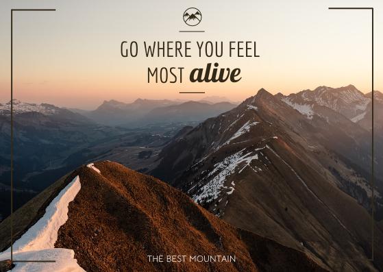 Postcard template: The Best Mountain Post card (Created by InfoART's Postcard maker)