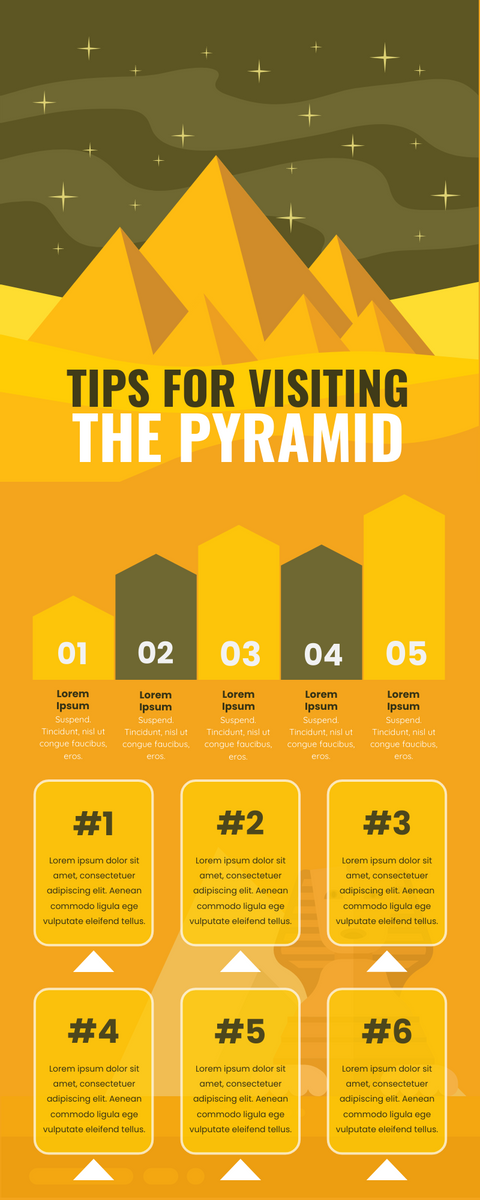 Infographic template: Tips For Visiting The Pyramid Infographic (Created by InfoART's Infographic maker)