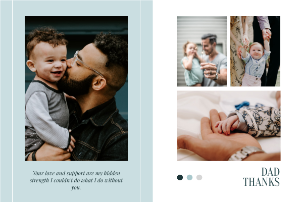 Greeting Card template: Love Dad Greeting Card (Created by Collage's Greeting Card maker)