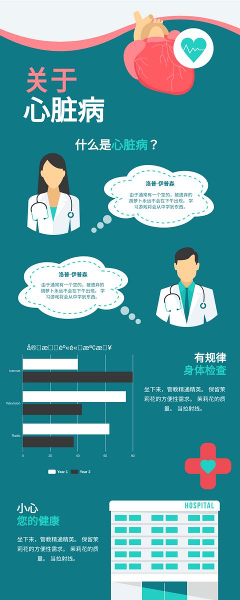 信息图表 template: 关于心脏病图 (Created by InfoART's 信息图表 maker)