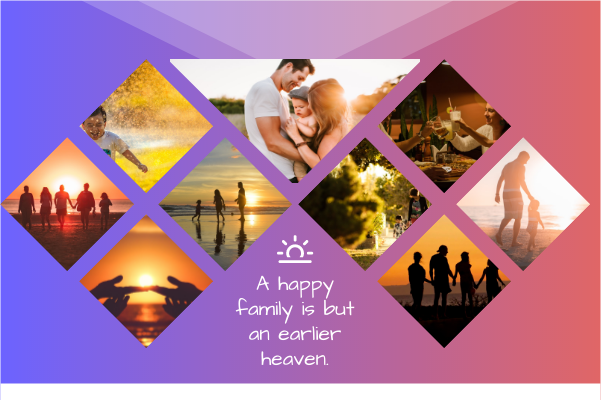 Greeting Card template: Sunset Family Day Greeting Card (Created by Collage's Greeting Card maker)