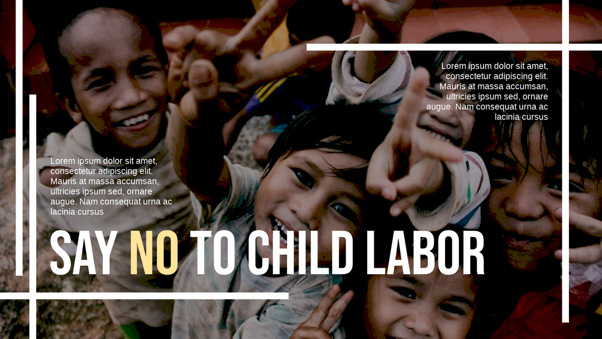 Twitter Post template: Say No To Child Labor Twitter Post (Created by InfoART's Twitter Post maker)