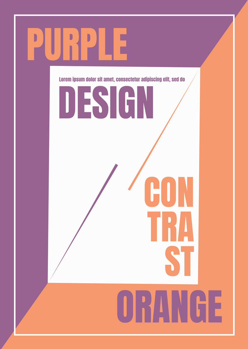 Poster template: Colour Contrast Poster (Created by InfoART's Poster maker)