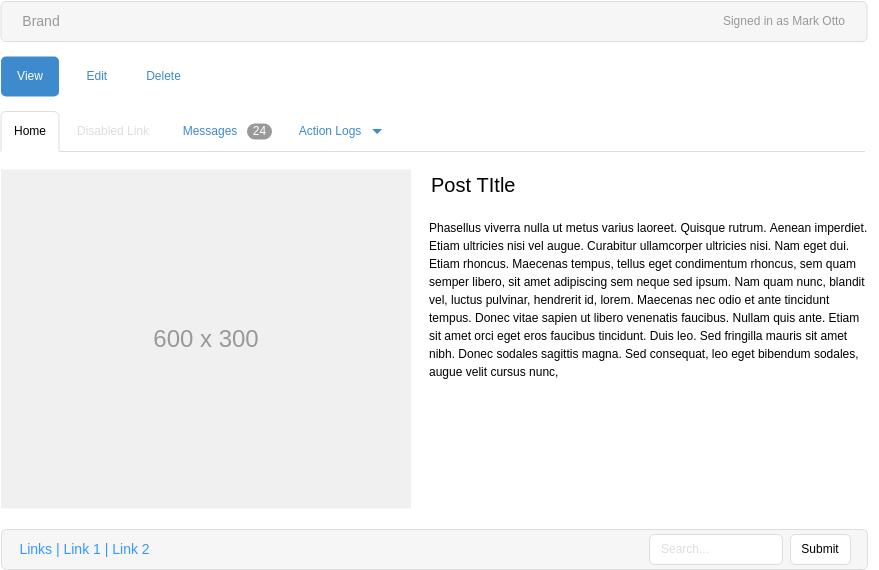 Accordion Component (Bootstrap Wireframe Example)