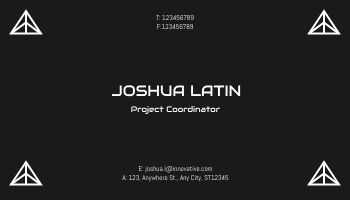 Business Card template: Innovative Business Cards (Created by InfoART's Business Card maker)