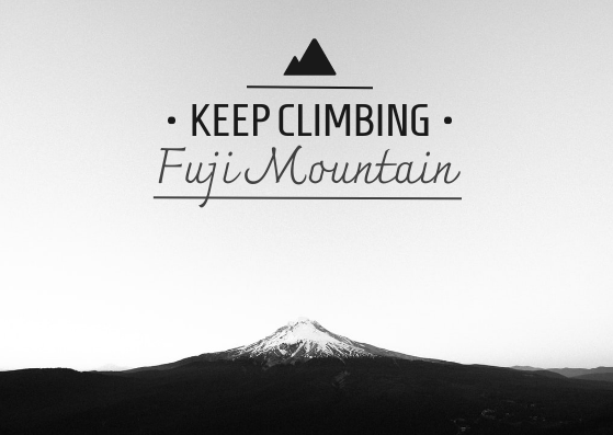 Post Card template: Keep Climbing Post Card (Created by InfoART's Post Card marker)