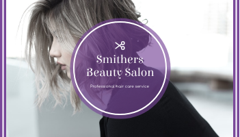 Business Card template: Purple Black Beauty Salon Business Card (Created by InfoART's Business Card maker)