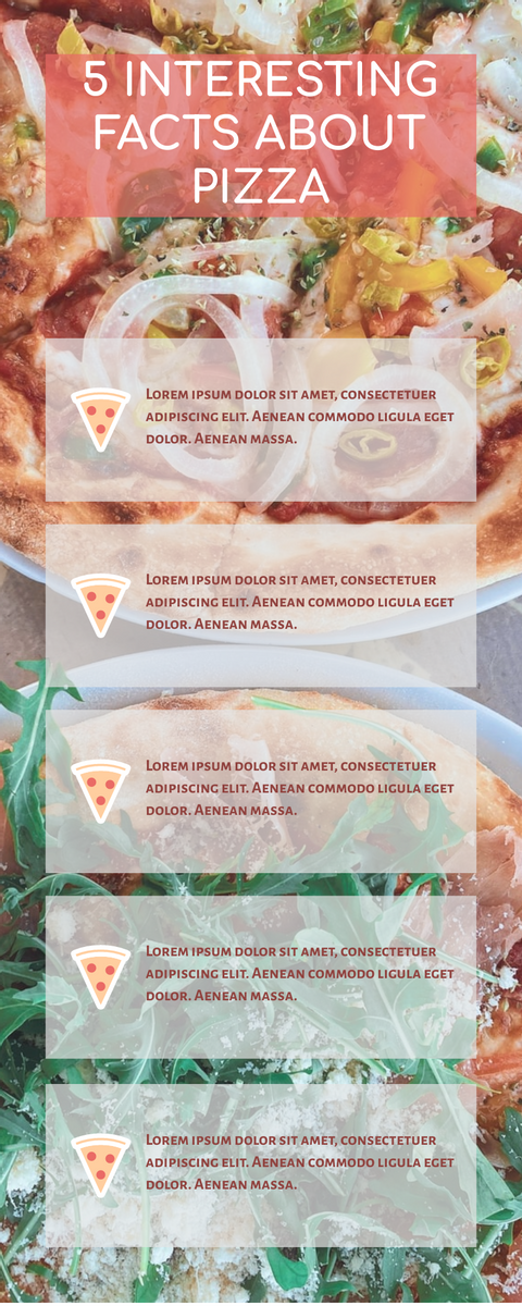 Infographic template: 5 Interesting Facts About Pizza Infographic (Created by InfoART's Infographic maker)