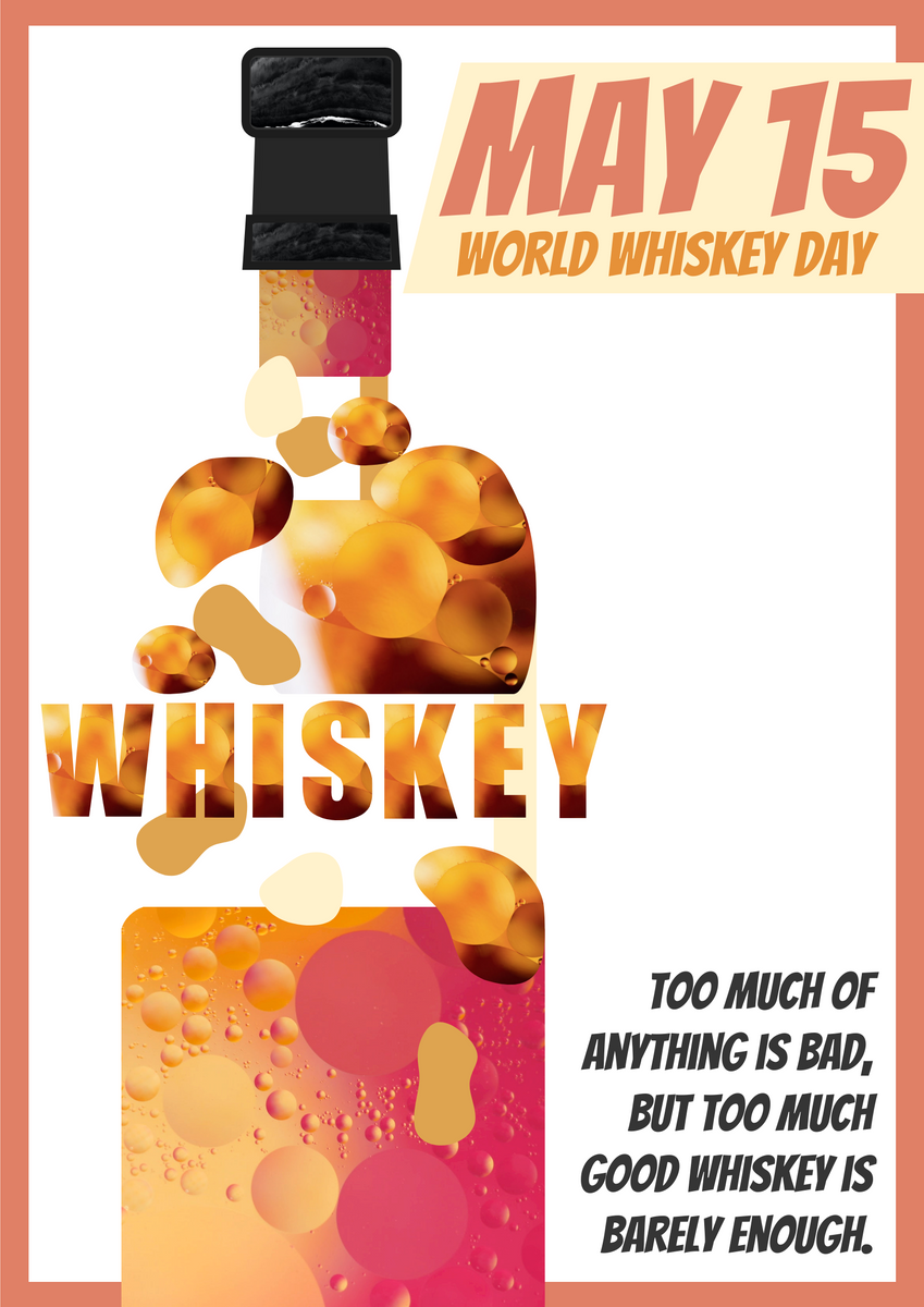 Poster template: World Whiskey Day Poster With Quote (Created by InfoART's Poster maker)
