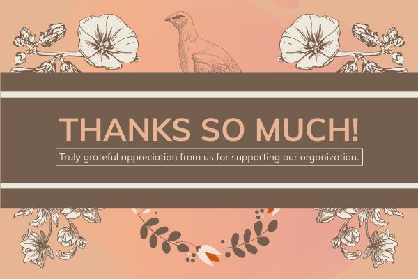 賀卡 template: Floral Appreciation Greeting Card (Created by InfoART's 賀卡 maker)